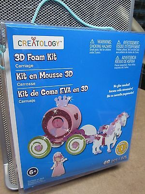 3D FOAMIES activity kit NEW Cinderella carriage building miniature foam model