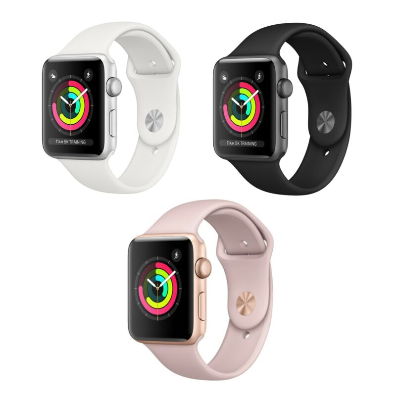 Apple Watch Series 3 - 42mm - GPS Only - Aluminum Case Smart Watch - All Colors