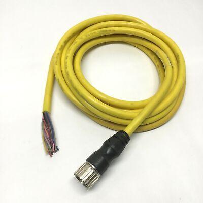 Allen Bradley 889m-f12ah Cordset Cable 12-pin Mini Plus Female Connector 4.5m