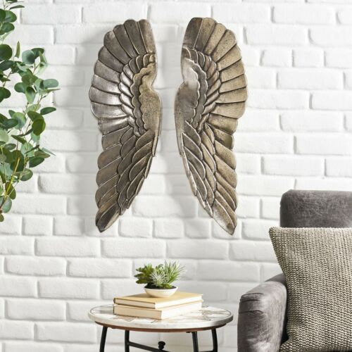 Dearing Lithonia Handcrafted Aluminum Angel Wings Wall Decor Home & Garden