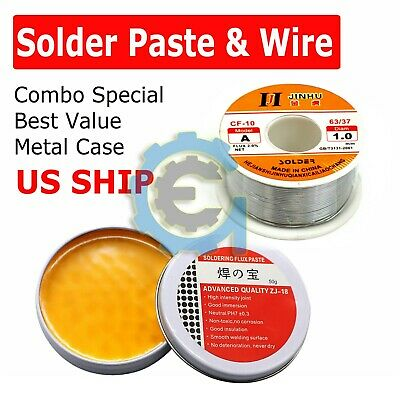 60-40 Tin Lead Rosin Core Solder Wire Sn60 Pb40 Flux 1.0mm Soldering Paste