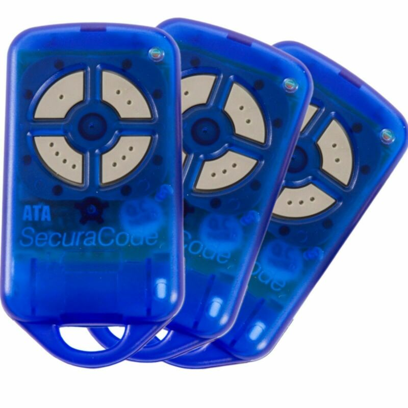 Garage Door Remote Control ATA PTX-4 BLUE Genuine SECURACODE x4