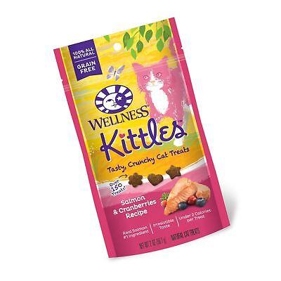 Wellness Kittles Crunchy Natural Grain Free Cat Treats Salmon & Cranberries