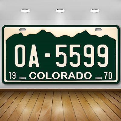 Vanishing Point 1970 Colorado OA-5599 Aluminum License Plate tag