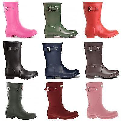 Hunter Original Short Rubber Womens Wellington Rain Boots