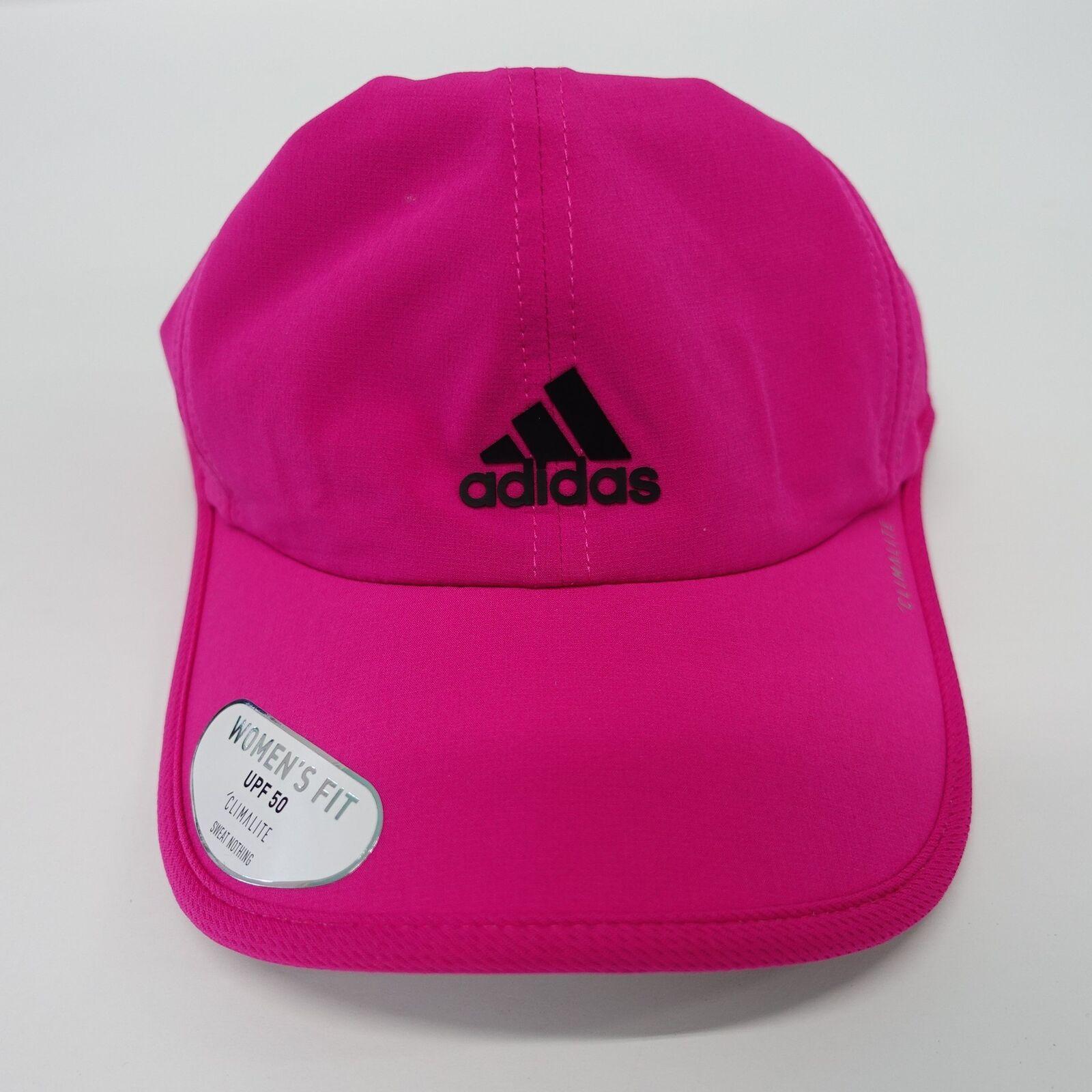 5d58f0a049b Womens adidas Superlite Cap Pink Climalite Real Magenta Lightweight ...