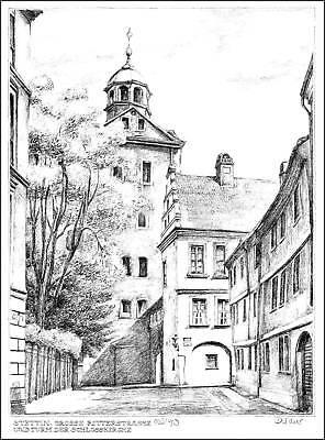 6 Grafiken/Zeichnungen: STETTIN 30 x 40 cm handsigniert
