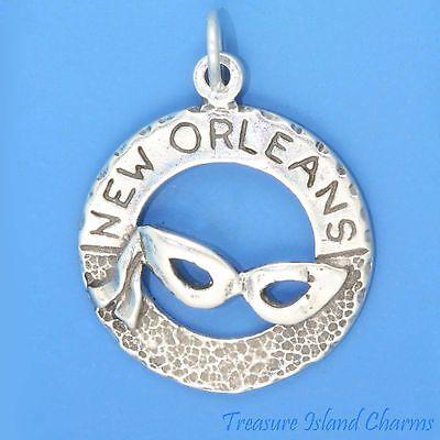 as Maske .925 Massives Sterlingsilber Charm Anhänger Marke (New Orleans Mardi Gras Masken)