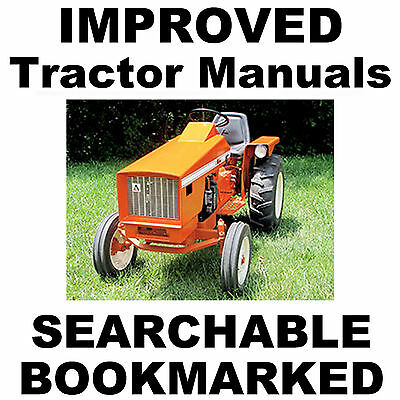 Allis Chalmers 616 620 720 Garden Tractor Factory Service Improved Manual On Cd