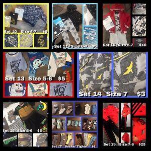 Boy Clothes Bundle Size 5-8 Winter