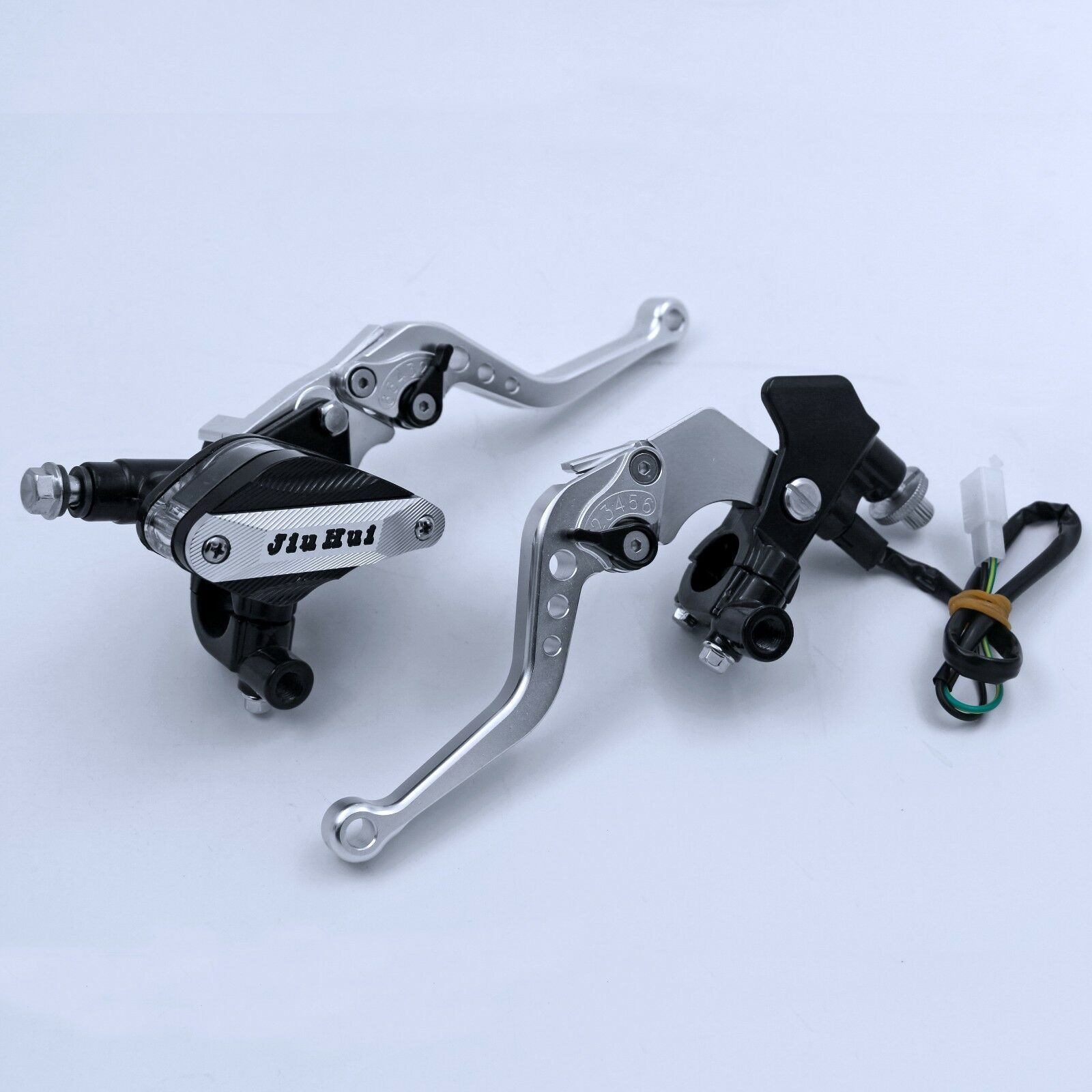 7//8/'/' Clutch Brake Levers Master Cylinder Reservoir Set For Suzuki Motorcycle