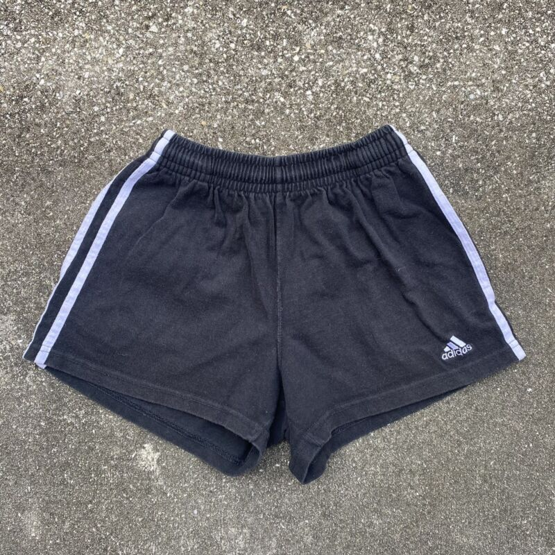 Vintage 90s Girls Adidas Three Stripe Shorts Size Medium