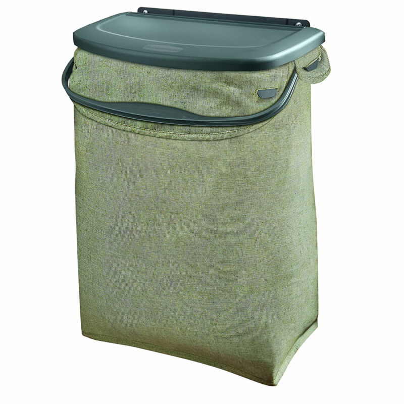 Rubbermaid Hidden Recycler with Machine Washable Bag and Built In Handles. Green
