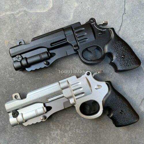 """8"""" Tactical Spring Assisted Blade BLACK / SLIVER Folding Pocket Knife w/ HOLSTER"""