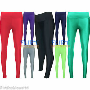Womens-American-Disco-PVC-Shiny-Wet-Look-Pants-Ladies-High-Waist-Leggings-8-14