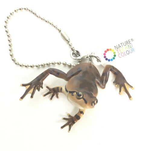 Nature Techni Colour Mini Figure Ball Chain Japanese Tree Frog Brown Ikimon