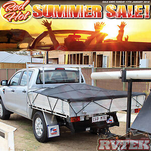 TRAYBACK HD UTE LOAD COVER - SINGLE CAB 2.5 X 2.0 METRES CARGO NET MESH TARP