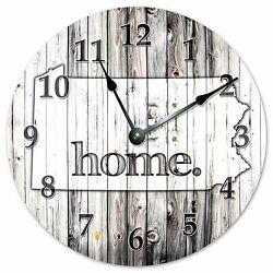 PENNSYLVANIA RUSTIC HOME STATE CLOCK - Large 10.5 Wall Clock - 2248