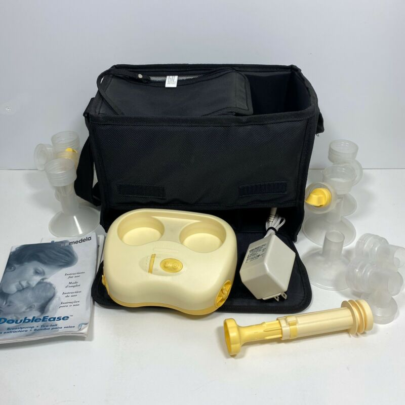 Madela Double Ease Breast Pump With Carry Bag Manual Power Supply & Accessories