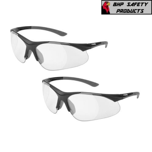 ELVEX RX-500C FULL MAGNIFIER READER SAFETY GLASSES 0.5-2.5 STRENGTH (2 PAIR)