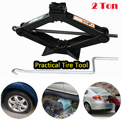 Emergency Scissor Jack Lift for Car Van Garage Handle 2Ton Load Bearing Capacity](Scissor Handles)