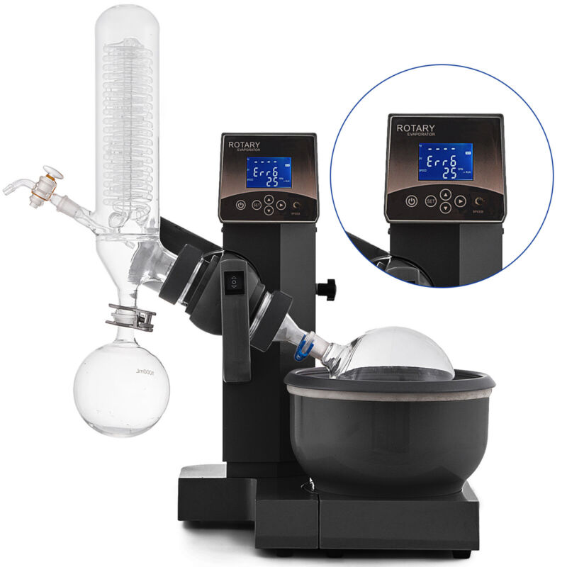 2L Rotary Evaporator RotoVap Stainless Lab Equipment Rotation Speed 0-90rpm USA