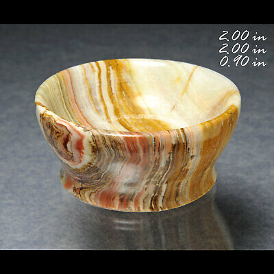CARVED BANED ONYX CALCITE BOWL PAKISTAN MINERALS CRYSTALS GEMS-MIN