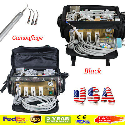 Us Portable Bag Dental Turbine Unit Air Compressor Freemaintananceair Scaler