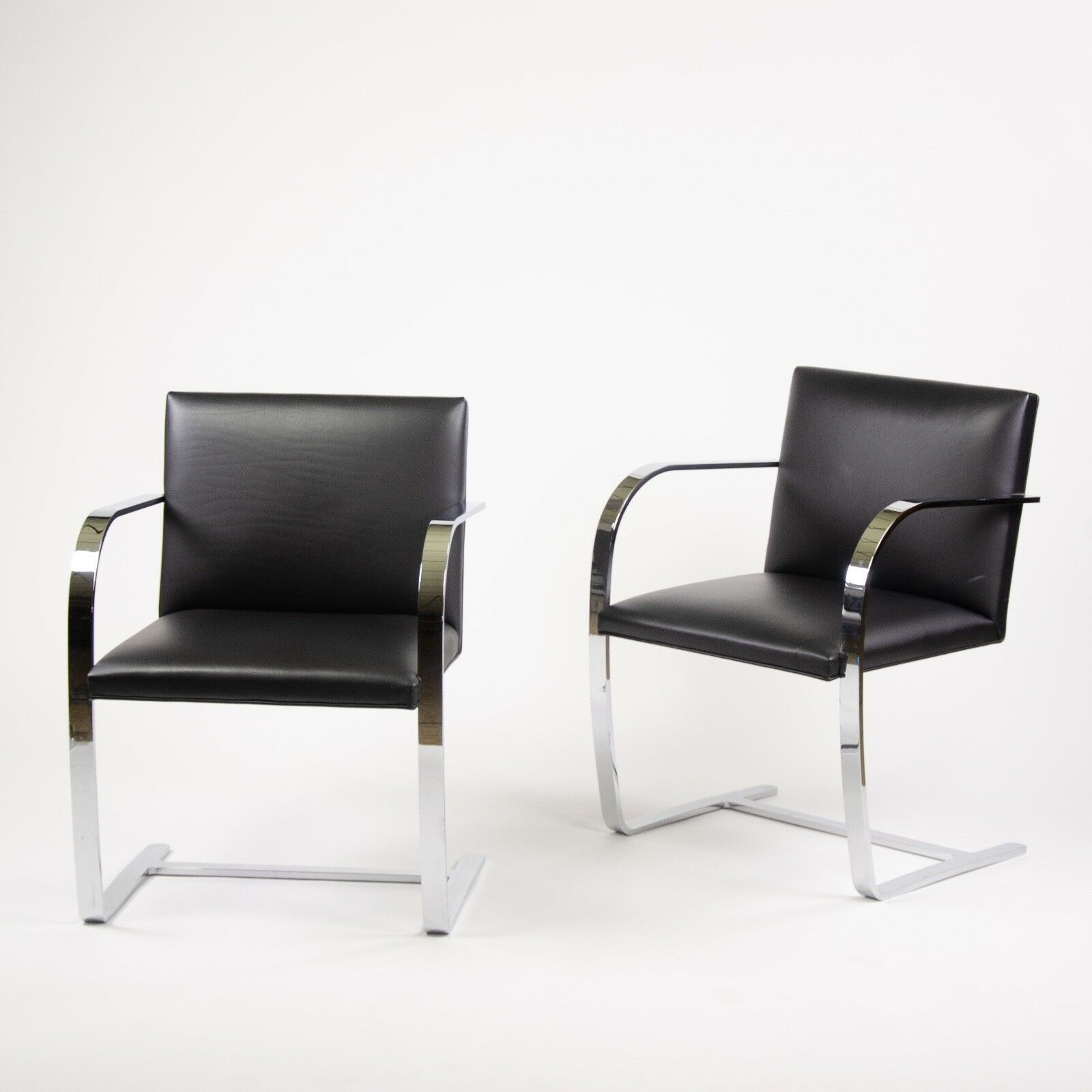 Chaise Brno Mies Van Der Rohe details about original knoll mies van der rohe brno chairs black leather  sets avail 2000s