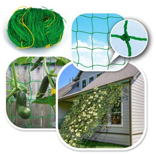 Pack of 2 Heavy Duty Garden Trellis Netting Plant Support Grow Green PE Mesh Net