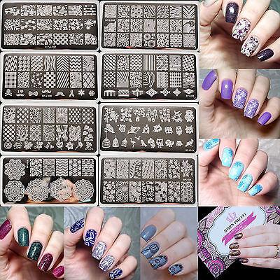 Born Pretty Manicure Rectangle Nail Art Stamping Template Plates Bpl001 L057