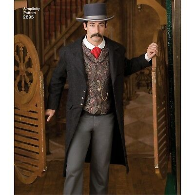 S2895 Sewing Pattern Simplicity 2895 Men Costume Rett Butler Gone with the Wind