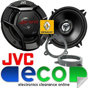 Renault Megane MK3 08-14 JVC 13cm 520W 2 Way Rear Doors Car Speakers & Brackets