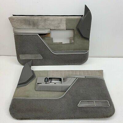 1988-1994 OEM Chevy Suburban Silverado K1500 Grey Door Panels Front GMC  S5653