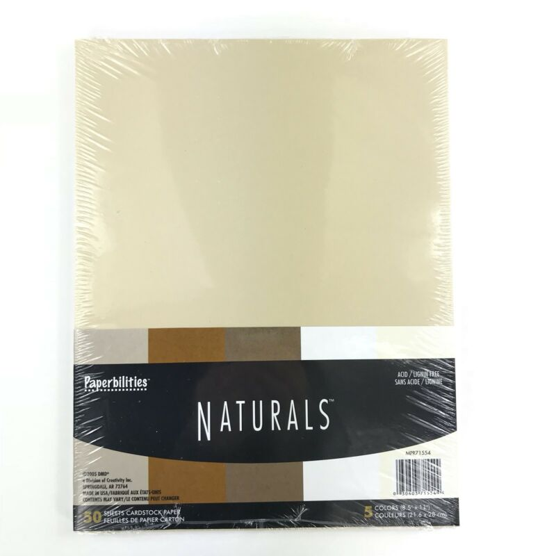 Paperbilities Naturals Earthtones Cardstock Paper Scrapbook 50 Sheets 5 Colors