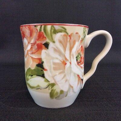 Coffee Mug Cup Home Porcelain Emelia Collection Pink Green Floral Design