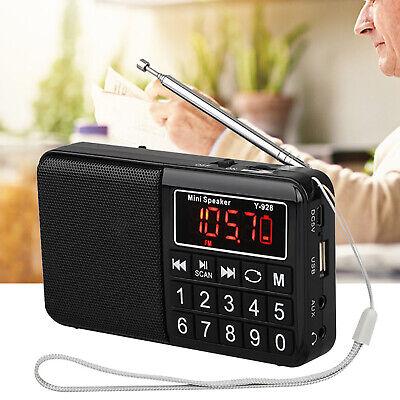 Portable Digital LCD HIFI Speaker Full Band FM Radio MP3 Music Player USB/AUX/TF