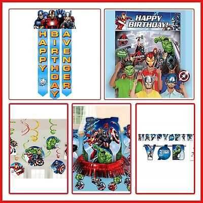 AVENGERS Birthday Party Supplies Wall Decorations Banners Scene Setter Door EPIC