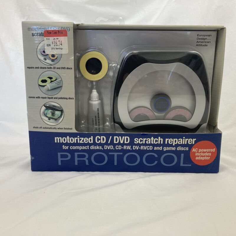 New Protocol Motorized CD/DVD/GAME DISCS Scratch Repairer - Sealed in Box