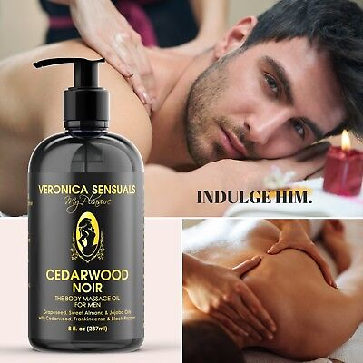 Romantic Gifts for Him - Sensual Relaxing Body Massage Oil for Men & Couples