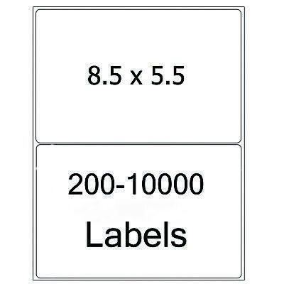 8.5x5.5 Shipping Labels Half Sheet Self Adhesive Round Corner Mailing Labels Usa