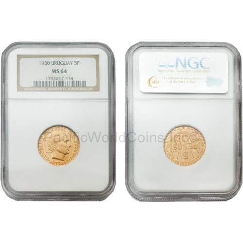 Uruguay 1930 5 Pesos NGC MS64
