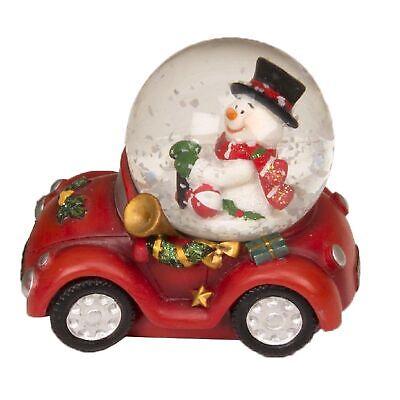 Christmas Decoration 45mm Mini Car Snow Globe with Snowman Figure Name Snowman Winter Wonderland