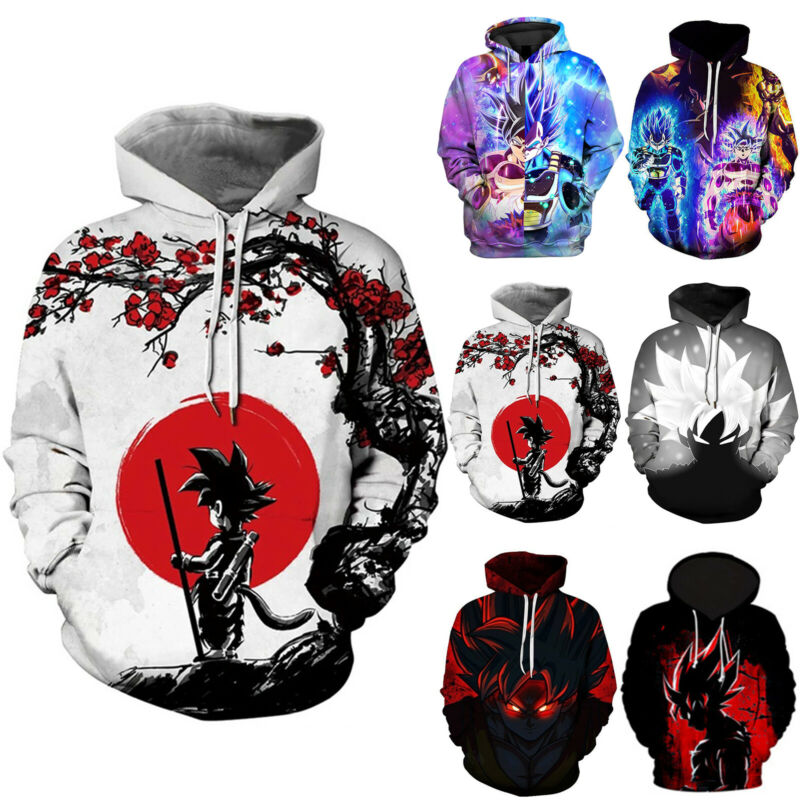 Dragon Ball Z 3D Graphic Print Mens Hoodies Sweatshirt Jacke