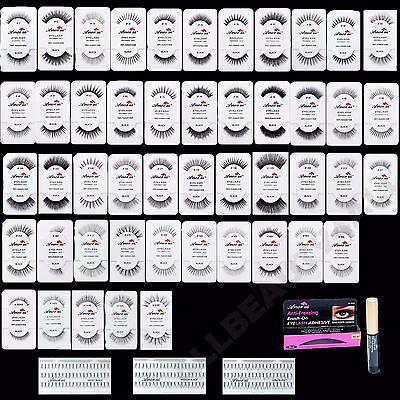 *PICK ANY 20 PAIRS* Amor US 100% Natural Eye Lashes Human Hair False Eyelashes