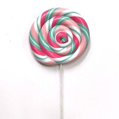 Pink + Mint Aqua Candy Lollipop Christmas Pick Tree Wreath Decor Fake Food - Aqua Candy