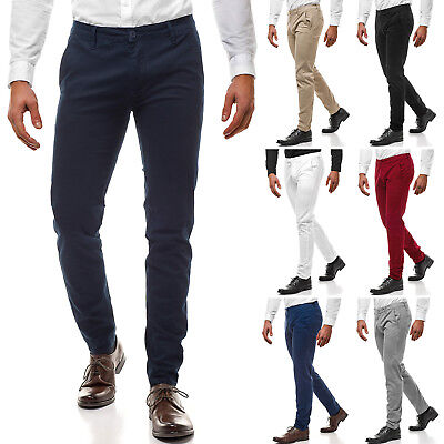 Chinohose Hose Anzughose Business Regular Hochzeit Casual Herren OZONEE 9125 MIX