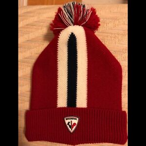 Rossignol Red Ski Hat Winter Toque Made in Italy