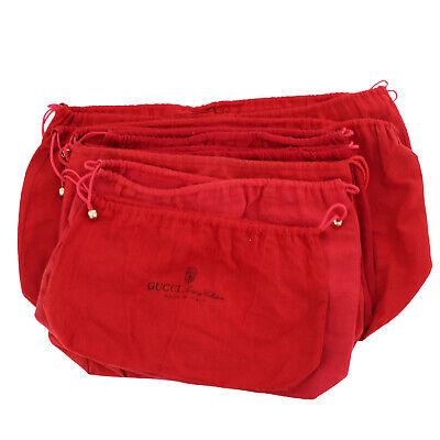 GUCCI Logos Dust Bag 7-Sheet Set Cotton Vintage Authentic #SS463 O