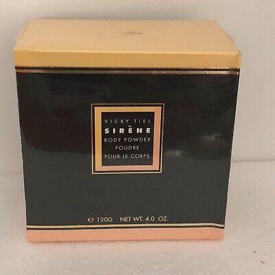 Vicky Tiel Sirene (Vintage Brand New Vicky Tiel Sirene Body Powder 4.0 Oz. 120g NY Made in USA)